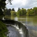 Průhonice: rybník v horním parku