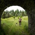 Krušné hory, zrušená trať Křimov - Marienberg: hledání na jednom z propustků