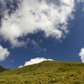 Lienzské Dolomity: mraky nad Steinermandlem