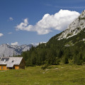Tauplitzalm, v pozadí masiv Totes Gebirge