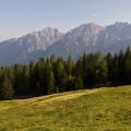 Večerní panorama Lienzských Dolomitů od Zettersfeldu