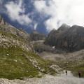 Lienzské Dolomity: cesta ke Karslbader Hütte, Roterturm a Großen Sandspitze