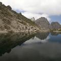 Lienzské Dolomity: spodní jezero Laserzsee u Karslbader Hütte
