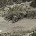 Lienzské Dolomity: cesta od vrcholu Laserzwand (to je jak z klipu Ohne Dich od Rammsteinů...)