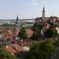 Mikulov: výhled na město z Kozího hrádku.