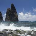 Madeira: útesy u pobřeží pod Ribeira da Janela