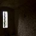Pernštejn: okénko nad hladomornou.