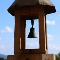 Hrubá Skála: zvonička na terase