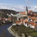 Český Krumlov: výhled od Kaplické ulice