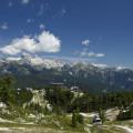 Výhled na Triglav z planiny pod Vogelem